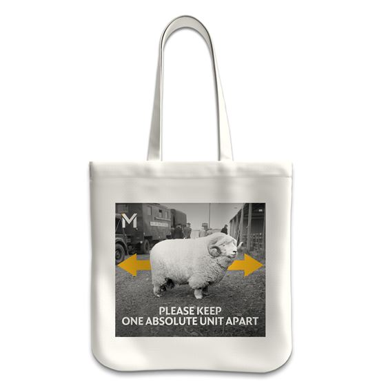 'Please Keep One Absolute Unit Apart' tote bag