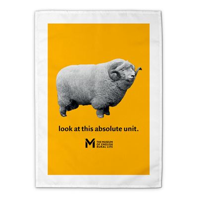 'The Absolute Unit' tea towel – yellow