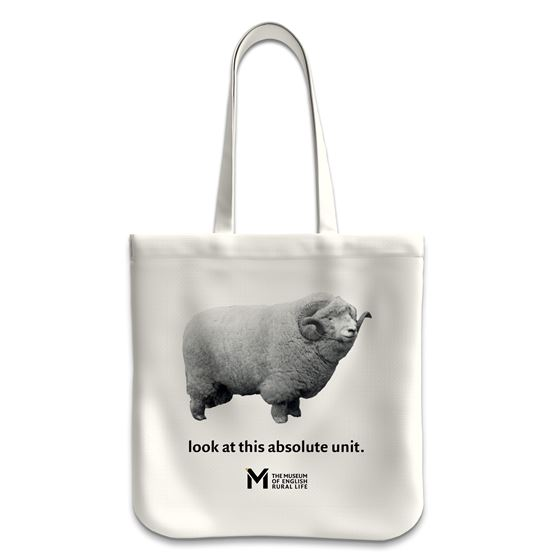 'The Absolute Unit' tote bag – natural