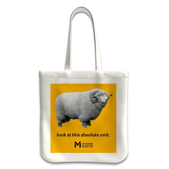 'The Absolute Unit' tote bag – yellow