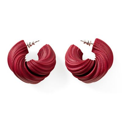 Lynne MacLachlan 'Peplos' earrings – burgundy red
