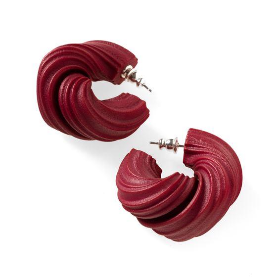 Lynne MacLachlan 'Peplos' earrings – burgundy red