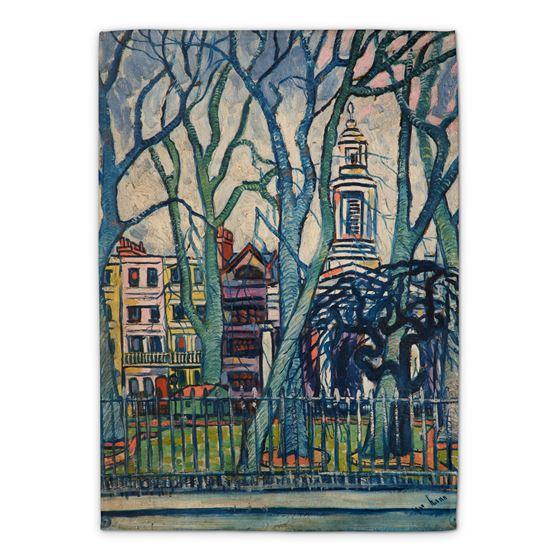 J. W. Nunn 'Trees and Buildings' tea towel