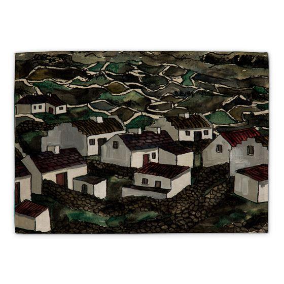 Kenneth Hall 'Bungalows, Isle of Arran' tea towel