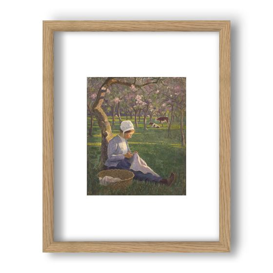 In the Orchard, Janet C Fisher, Framed Print