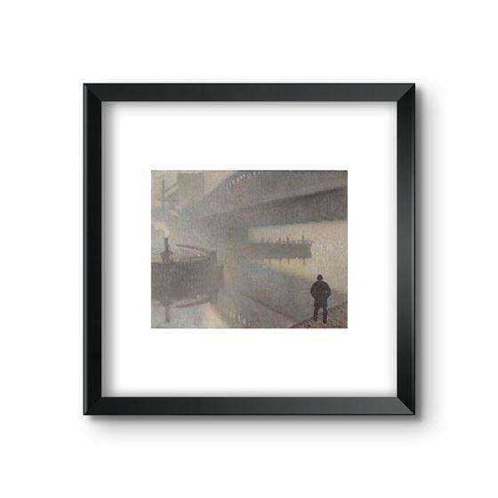 Under Windsor Bridge on the Irwell, Manchester by Adolphe Valett