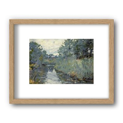 River Scene, Christchurch, Dorset - framed print