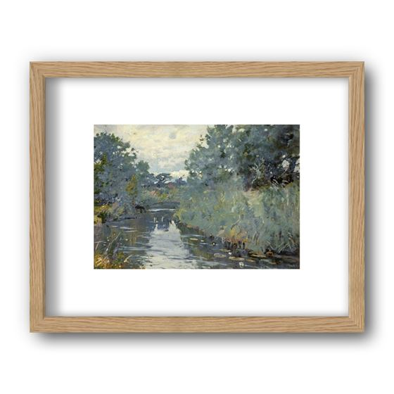 River Scene, Christchurch, Dorset by Frank Richards