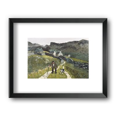 The Way to the Cottages - framed print