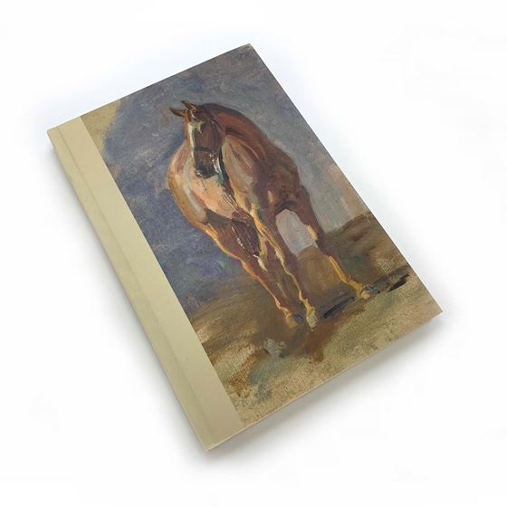 Alfred Munnings 'Study of a Bay Horse, Master, Bred by the Artist at Dedham' notebook