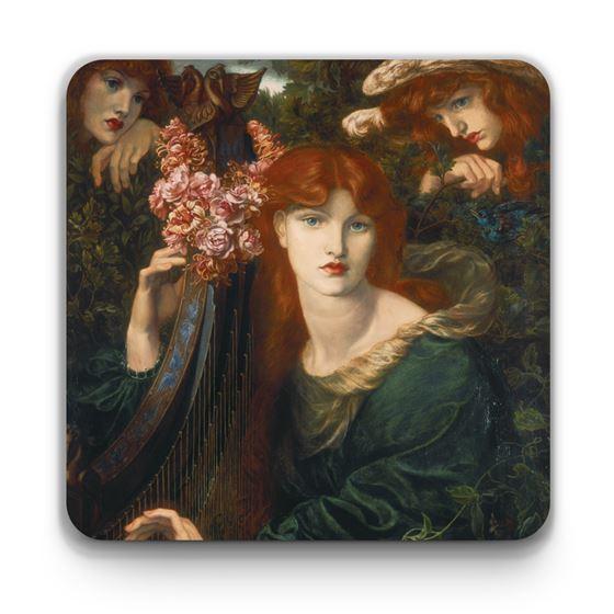 Dante Gabriel Rossetti 'La ghirlandata' coaster
