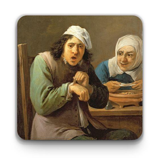 David Teniers the Younger 'The Five Senses' coasters – 5-piece set