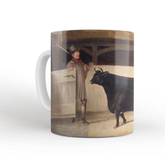 'A Small Black Cow' mug