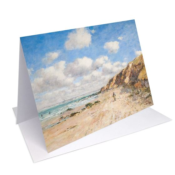 Eugène Louis Boudin 'A Beach near Trouville' greetings card - A6