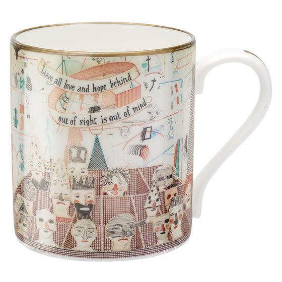 David Hockney 'Bedlam' mug