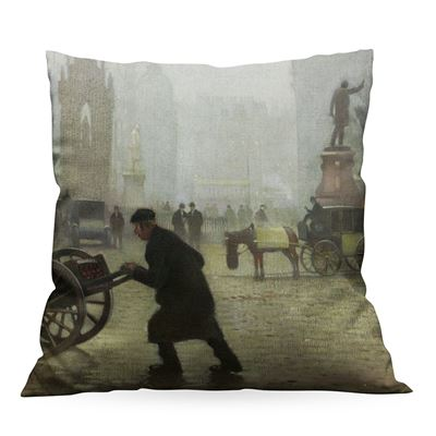 Adolphe Valette 'Albert Square, Manchester' cushion