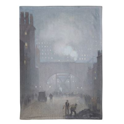 Adolphe Valette 'York Street Leading to Charles Street, Manchester' tea towel