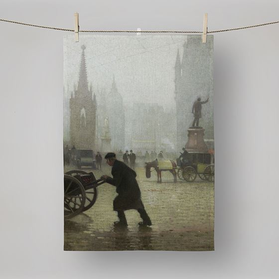 Adolphe Valette 'Albert Square, Manchester' tea towel