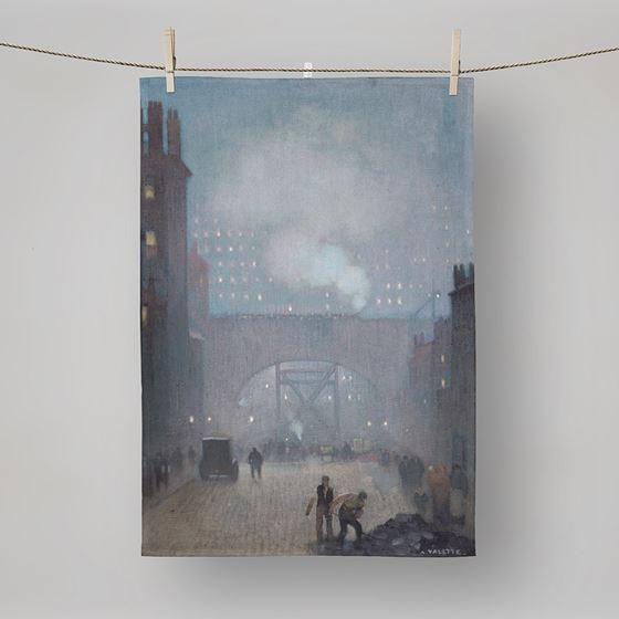 Adolphe Valette 'York Street Leading to Charles Street, Manchester' tea towel