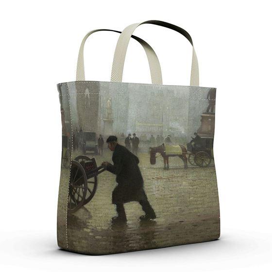 Adolphe Valette 'Albert Square, Manchester' shopper