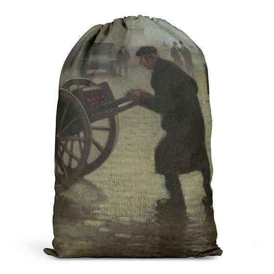 Adolphe Valette 'Albert Square, Manchester' drawstring bag