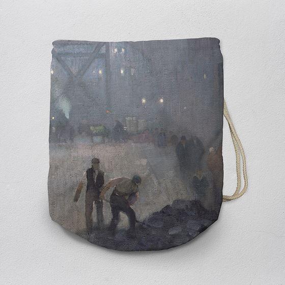 Adolphe Valette 'York Street Leading to Charles Street, Manchester' drawstring bag