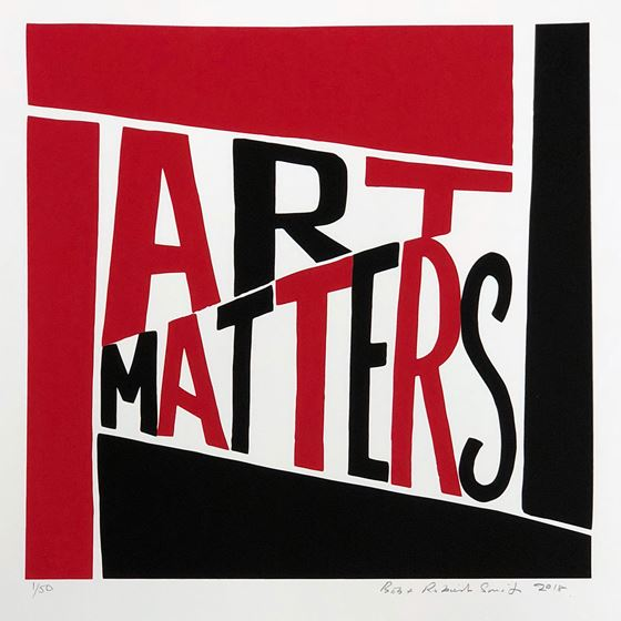 Art Matters limited-edition print - Black satin