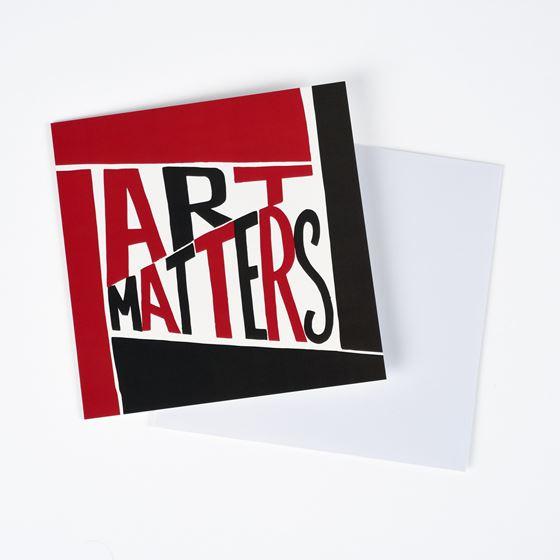 Art Matters greetings card