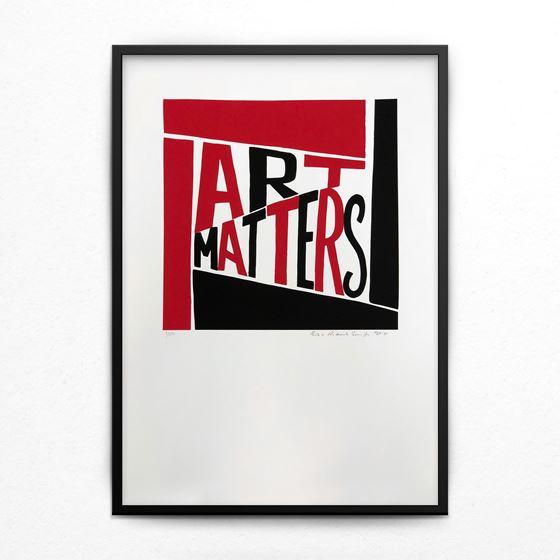 Art Matters limited edition print - Black satin