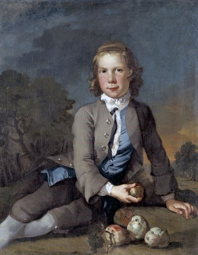 A Boy with Apples