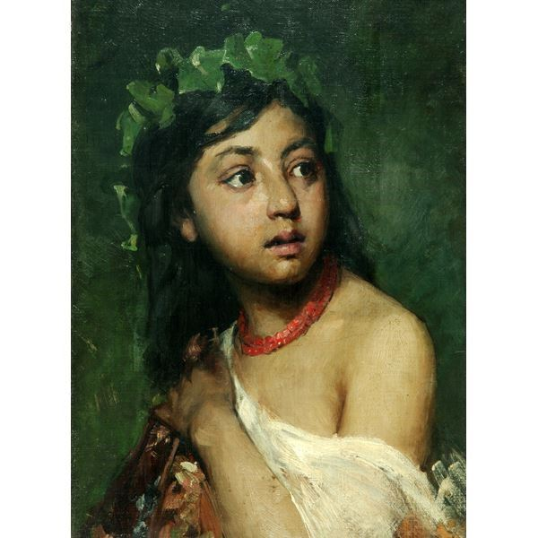 Italian Girl with Necklace