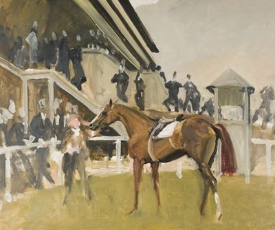 Study for 'The Unsaddling Enclosure, Epsom'