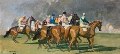 Study for 'The Start at Newmarket'
