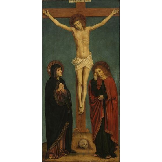 Crucified Christ with the Virgin and Saint John