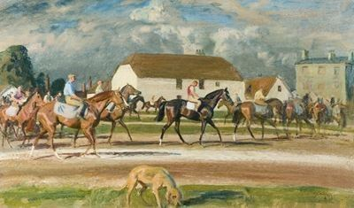 Horses with Stable Lads up at Newmarket