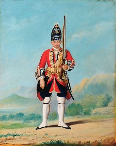 Man of Grenadier Company, Royal Welch Fusiliers, c.1742
