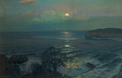 Rising Moon, St Ives Bay, Cornwall