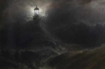 Eddystone Lighthouse, During a Storm