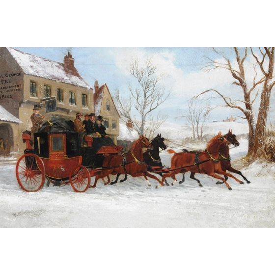 Winter Coach Scene