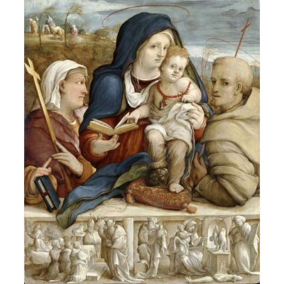 Virgin and Child between Saint Helena and Saint Francis