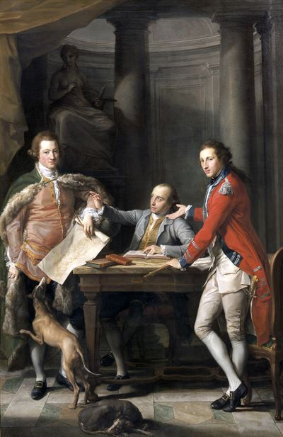 Sir Watkin Williams-Wynn (1749–1789), 4th Bt, Thomas Apperley (1734–1819), and Captain Edward Hamilt