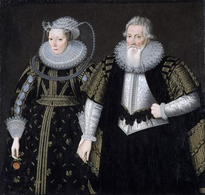 Sir Thomas Mansel (1556–1631), and Jane, née Pole, Lady Mansel