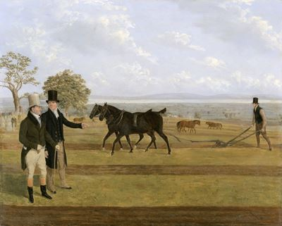 Sir Charles Morgan at the Castleton, Ploughing