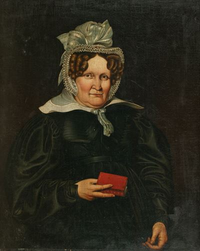 Portrait of a Woman Holding a Red Book