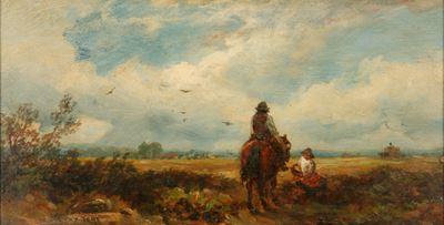 Landscape with Man on a Horse