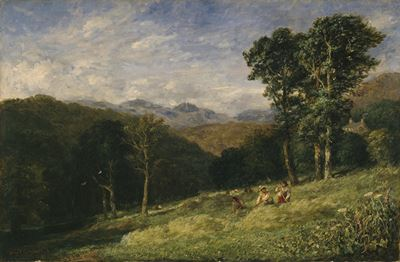 Haymaking near Conway