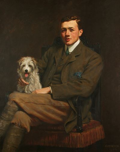 Robert Henry Grenville Tatton (Young Man Seated with a Dog)