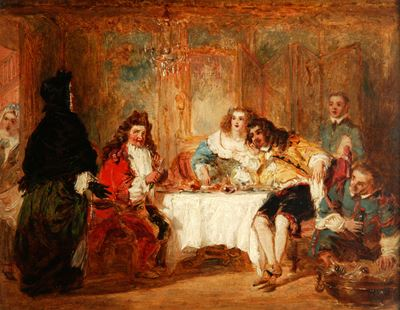 Mme Jourdain Discovers Her Husband at the Dinner Which He Gave to the Belle Marquise and the Count D