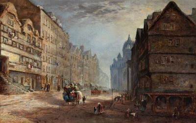 View of the High Street, Looking East, from the Lawnmarket, Edinburgh