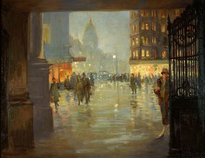 Maule's Corner after Rain, Edinburgh